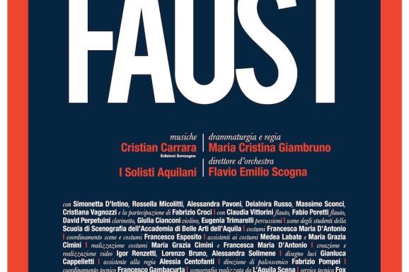 Faust, su musica di Cristian Carrara, versione drammaturgica e regia di Maria Cristina Giambruno, L'Aquila, Piazza Santa Margherita, Domenica 12 luglio 2015, ore 21.30
